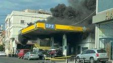 الحريق الكبير في محطة الوقود في حارة صيدا سببه ماس كهربائي