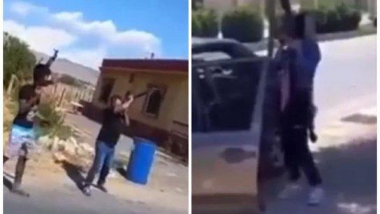"""مشاهد متداولة لإطلاق قذيفة ار بي جي ورشقات نارية """"ابتهاجًا"""" أثناء مرور صهاريج المازوت الإيراني!"""