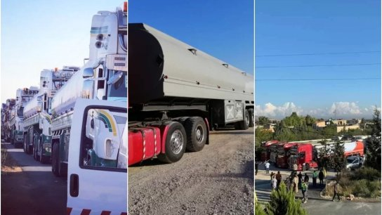 بالفيديو والصور/ وصول أول قافلة من صهاريج المازوت الإيراني إلى الأراضي اللبنانية