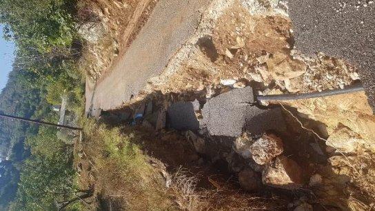 الفيضانات اجتاحت القبيات أمس وتسببت بأضرار جسيمة بالممتلكات والاراضي الزراعية والطرقات وجدران الدعم