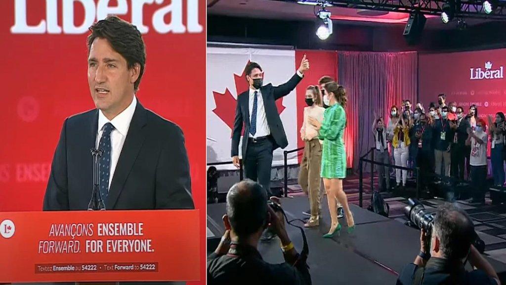 جاستن ترودو يفوز بولاية ثالثة في الإنتخابات الكندية
