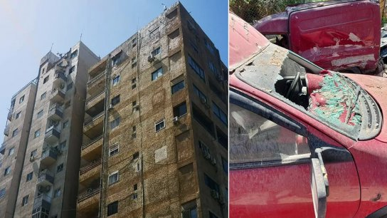 بالصور/ انهيار جزء من سقف مبنى شاهين في صور والعناية الإلهية حالت دون وقوع كارثة