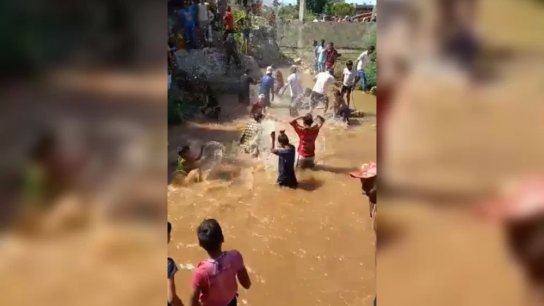 بالفيديو/ عودة مياه نبع الصفا بعد 3 أيام من غورها وسط فرحة الأهالي