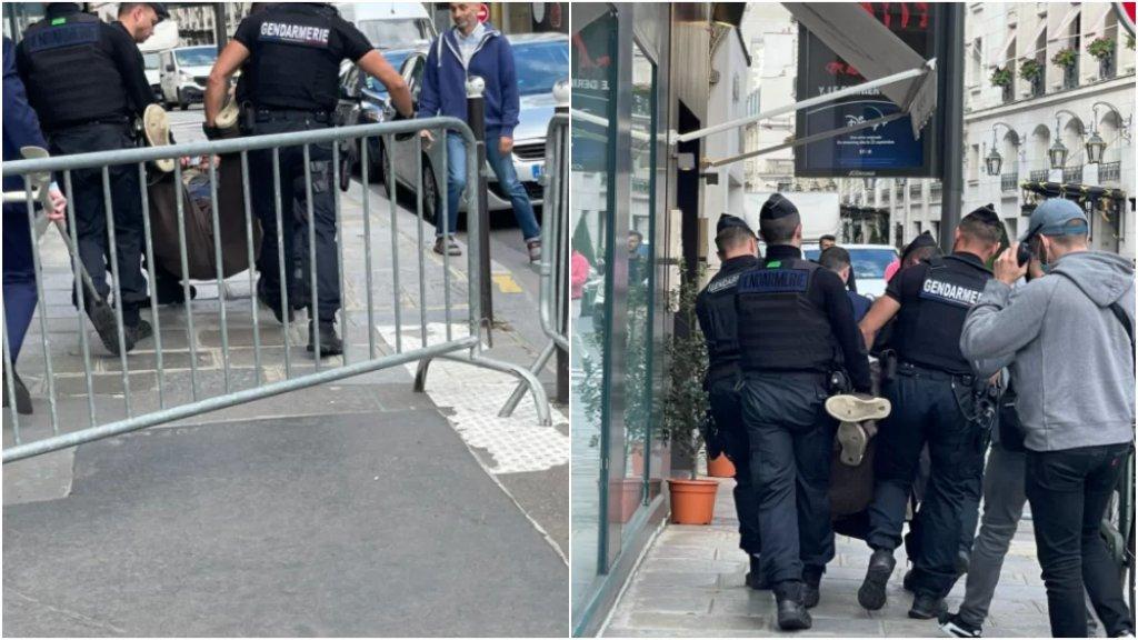 بالصور/ الشرطة الفرنسية تلقي القبض على شخص حاول تصوير الإليزيه لحظة وصول ميقاتي إليه