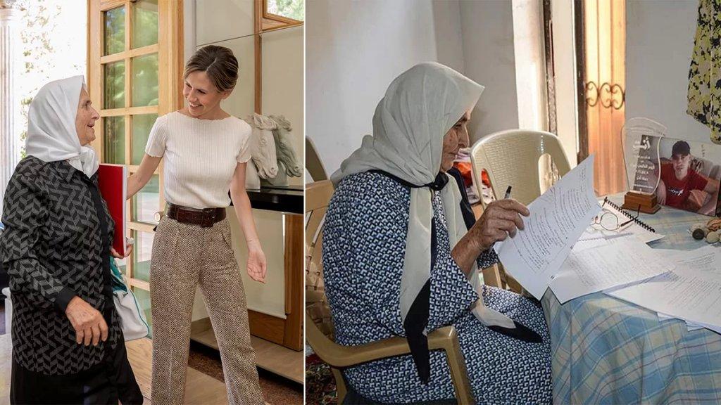 نجلاء برغل سيدة سورية نالت شهادتها الجامعية وهي بعمر الـ 79.. عملت في جني الزيتون والليمون لتغطية مصاريفها الجامعية
