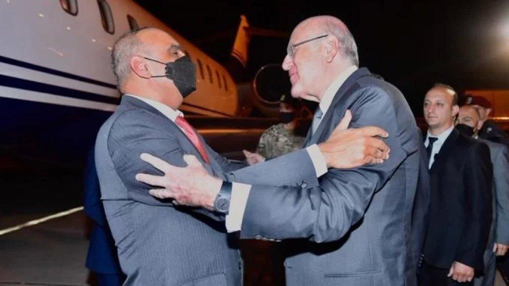 ميقاتي استقبل نظيره الاردني في المطار: سيعقدان غداً اجتماعاً موسعاً يليه لقاء صحافي مشترك