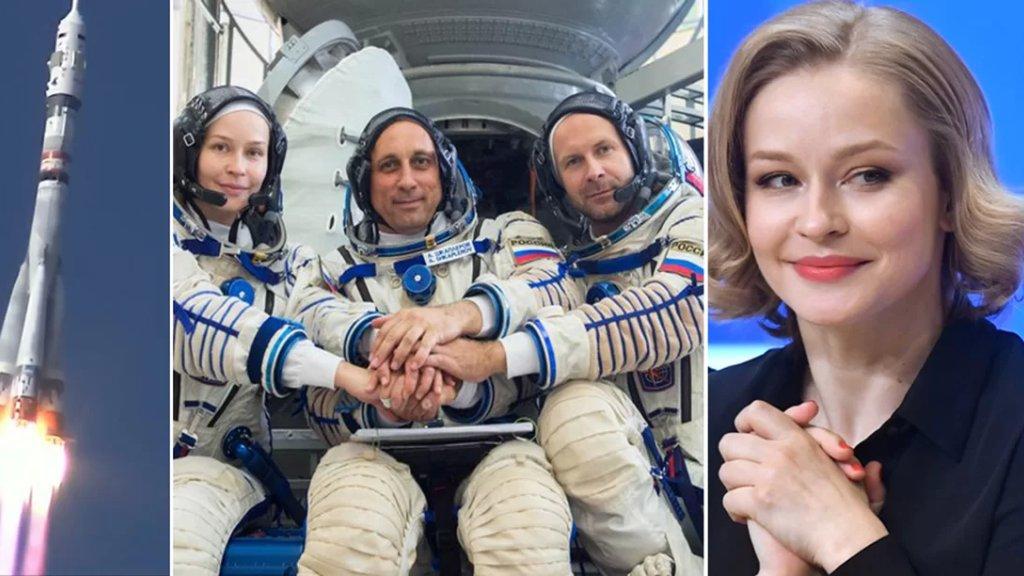بالصور والفيديو/ لحظة إطلاق أول طاقم سينمائي إلى الفضاء على متن صاروخ سويوز لإنتاج فيلم يحكي قصة طبيبة تطير إلى مدار الأرض لإنقاذ رائد فضاء