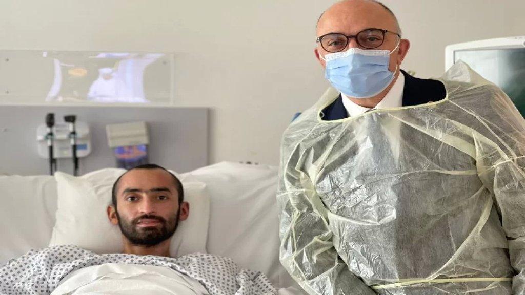 الجندي في الجيش اللبناني حسام الأحمد يعود الى لبنان اليوم بعد علاجه في أبوظبي إثر إصابته في انفجار التليل في عكار