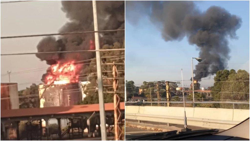 بالصور/ إندلاع حريق كبير قرب منشآت النفط في الزهراني أعقبه صوت دوي