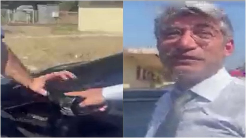 بالفيديو/ تضرر سيارة لوزارة الطاقة في منشأة الزهراني.. وهذه ردة فعل الوزير