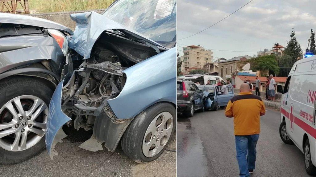 بالصور/ قتيل و5 جرحى في حادث تصادم مأساوي على طريق العقيبة