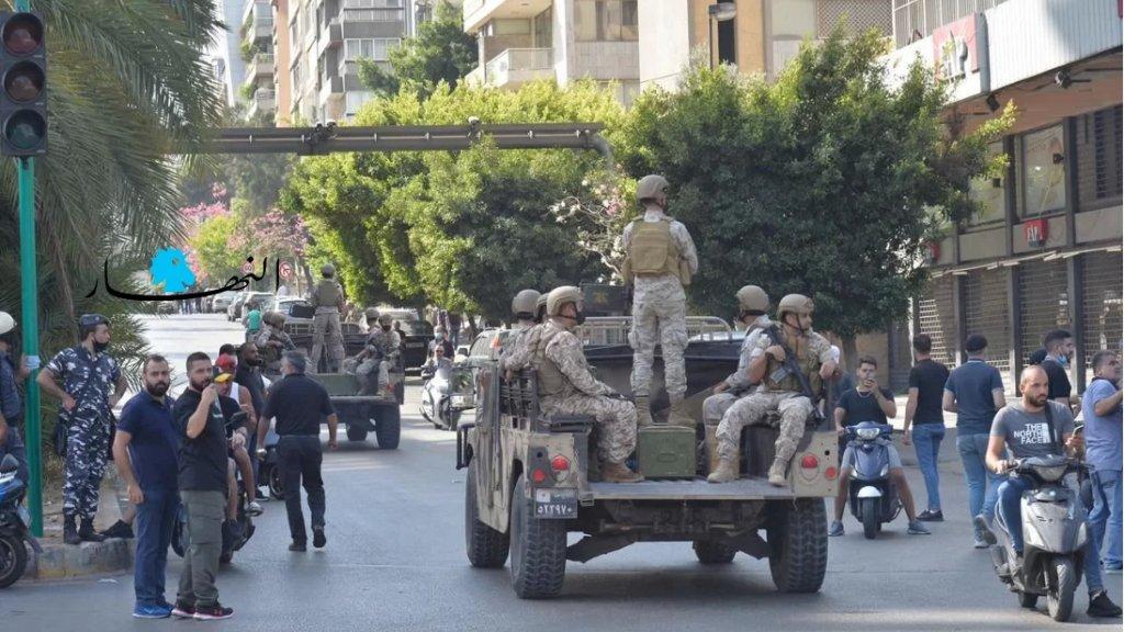 """الجيش يحذّر: سنطلق النار باتجاه اي مسلح ... و""""إخلوا الشوارع"""""""