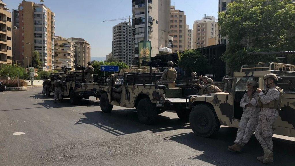 بيان هام من الجيش حول أحداث اليوم: إشكال وتبادل لإطلاق النار في منطقة الطيونة- بدارو وتوقيف 9 أشخاص من كلا الطرفين بينهم سوري
