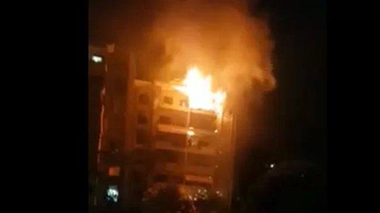 بالفيديو/ حريق كبير في إحدى المباني في أنطلياس